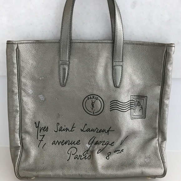 518d56bc1fd Yves Saint Laurent Bags | Ysl Y Mail Bag Silver Metallic Pewter ...